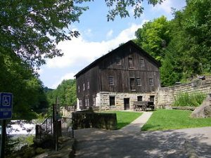 photo shows the covered bridge at McConnells mill.